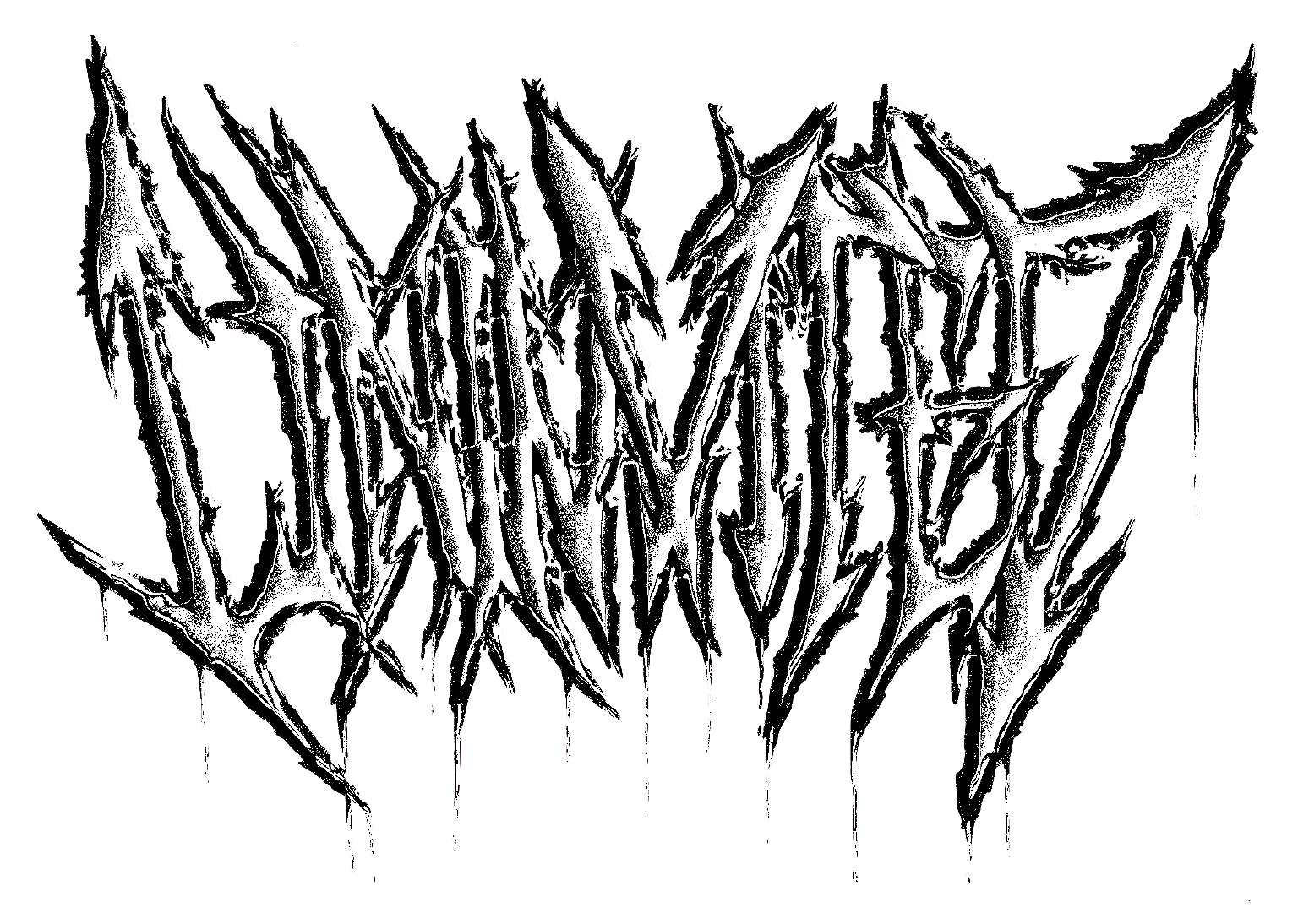 Black Metal Abstract Typography Reading Uninvited